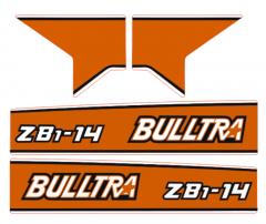 Adhesivos capo conjunto Kubota B1-14