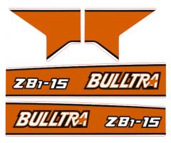 Adhesivos capo conjunto Kubota Bulltra B1-15