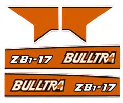Adhesivos capo conjunto Kubota Bulltra B1-17