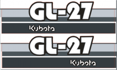 Adhesivos capo conjunto Kubota GL27