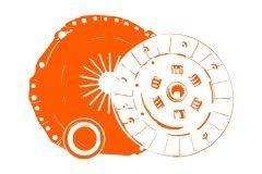 Kit de embrague Kubota GL, GT, L1, L, Saturn, ST25, ST30, B2150, B9200