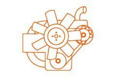 Yanmar 2TNV70, 2D70E, Komatsu, diesel motor