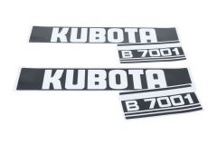 Adhesivos capo conjunto Kubota B7001