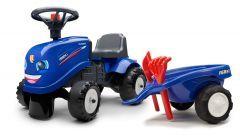 Iseki Juguete de Montar Tractor para Niños Aprendiendo a Caminar con remolque y herramientas