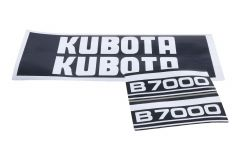 Adhesivos capo conjunto Kubota B7000