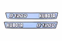 Adhesivos capo conjunto Kubota B1200