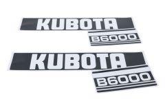Adhesivos capo conjunto Kubota B6000