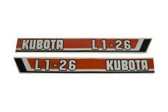Adhesivos capo Kubota L1-26