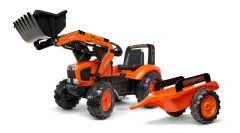 Kubota M135 Tractor de pedales con remolque y cargador frontal 3 A 5 Años