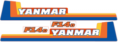Adhesivos capo conjunto Yanmar F14
