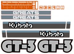 Adhesivos capo conjunto Kubota GT3