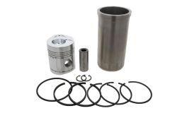 Conjunto de pistón y cilindro con anillos de pistón Fordson, Power Major, Super Major