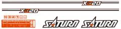 Adhesivos capo conjunto Kubota Satrun X-20