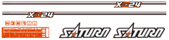 Adhesivos capo conjunto Kubota Saturn X-24