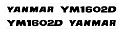 Adhesivos capo conjunto Yanmar YM1602